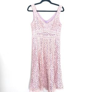 Nanette Lepore Pink Lace Fit & Flare Dress 6